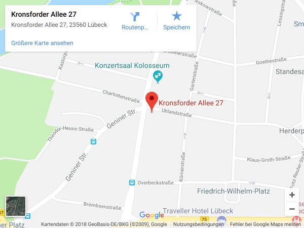 Anfahrt Rechtsanwalt Höfer Lübeck